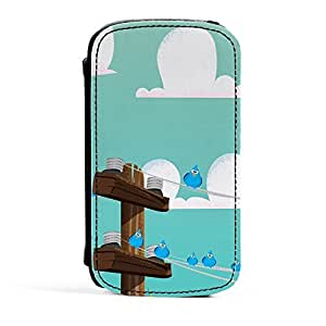 Birds on a wire Premium Faux PU Leather Case Flip Case for Samsung? Galaxy S3 by Nick Greenaway + FREE Crystal Clear Screen Protector