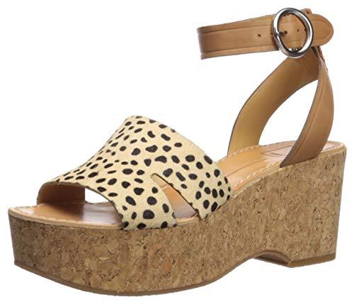 - Dolce Vita Women's Linda Wedge Sandal leopard calf hair 9 M US
