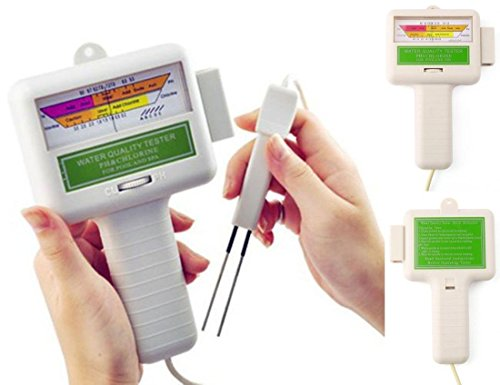 1 Pc Superior Popular pH Chlorine Tester Water Quality Test Spa Favored Check Handheld Indicator Color White - Silver Shield System
