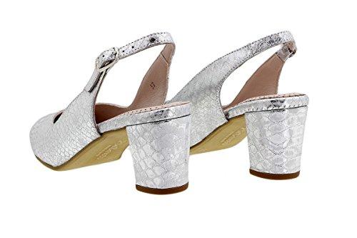 Cobralux Piesanto 180229 Décolleté Confort Argent Chaussures Femme A0YqA