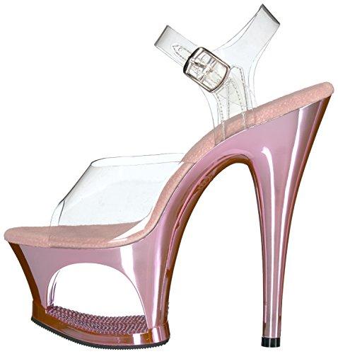 b Para Abierta Sandalias Chrome Clr Mujer Moon Pink Punta 708dmch Con Pleaser ZYOzx