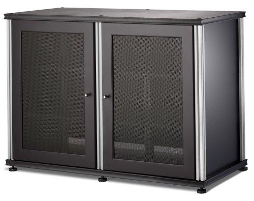 Salamander Synergy 323 Four-Shelved A/V Cabinet (Black/Silver)