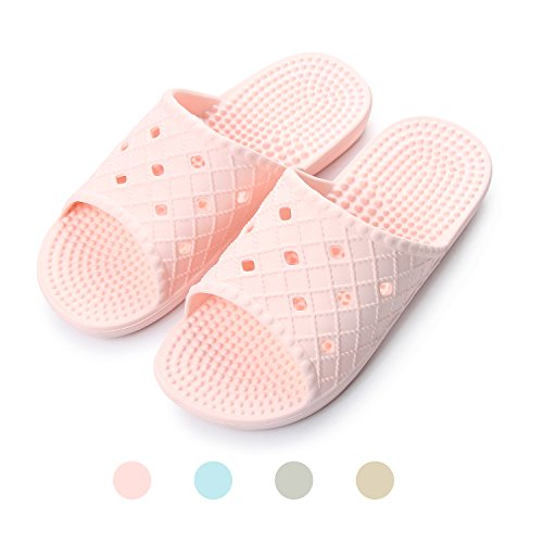 Indoor Shoes Bathroom Pool Slippers Slide Sandals Slipper Shower Fashion and Men Beach Bath Non Women Slip Pink House wOaxqYa18