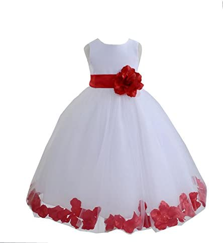 Wedding Pageant Flower Petals White