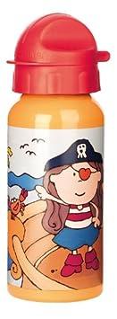 sigikid, Mä dchen, Trinkflasche mit Drehverschluss 0,4 l, Finky Pinky, Rosa, 24775