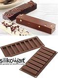 Silikomart 26.184.77.0065 Sf 184 My Snack Moule Rectangulaire pour Chocolat Silicone Marron 32,5 x 12,5 x 2 cm