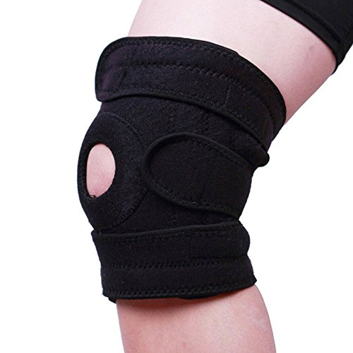 Themoemoe Knee Brace Support Sleeve For Arthritis, ACL, Running,Training, Sports, Meniscus Tear, Athletic, Non-Bulky, Relieves Pain,Open Patella Protector Wrap, Adjustable Premium Breathable Neoprene by Themoemoe