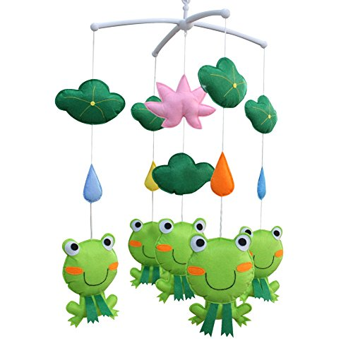 ([Lotus and Frog] Pretty Decor Handmade Toy, Musical Mobile)