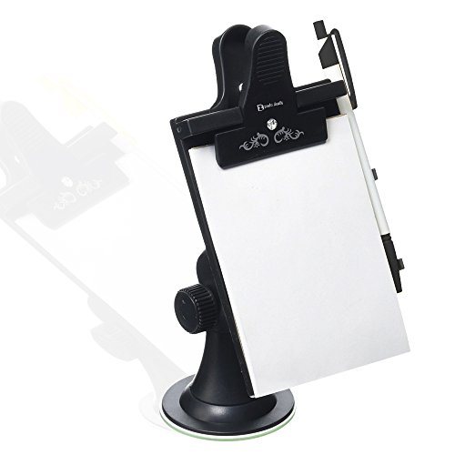 Zento Deals Car Note Pad/Memo Pad/Clip Board (Universal Suction, Flexible Neck Mount) ()