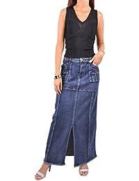 Brushed Blue Denim Skirt