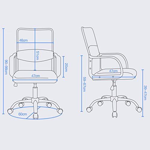 Kontorsstolar mitten av ryggen nät dator spel skrivbordsstol 360 grader rotation säte max vikt kapacitet 100 kg