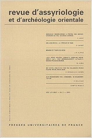 Download Revue d'assyriologie, 1997, numéro 2, volume 91 epub pdf