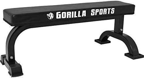 Gorilla Sports Banc De Musculation Plat Avec Logo Amazonfr Sports