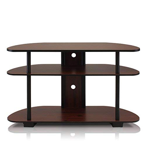 - Furinno 99603DC/BK Turn-N-Tube 3-Tier Entertainment Center, Dark Cherry/Black