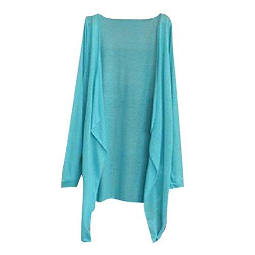 Unica Taglia Protezione Cover Cappotto Top Loose A Donna Solare Bikini Maniche Per Lunghe Up Maglione Cardigan Felpe Beachwear Abbigliamento Blu Estiva B4wxqtEETz
