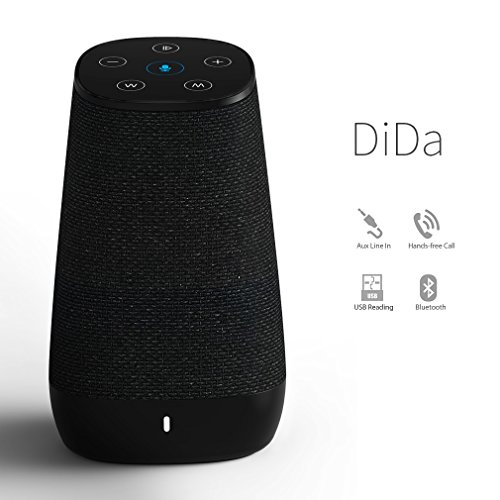 COWIN DiDa with Amazon Alexa Bluetooth Speakers, Smart Wireless Wifi Portable Bluetooth Speaker 15W Output Power with Enhanced Bass- Black by COWIN (Image #1)