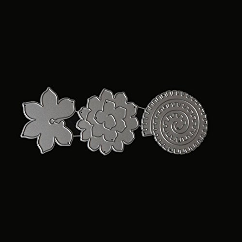 TOPUNDER Flower Heart Metal Cutting Dies Stencils DIY Scrapbooking Album Paper Car -