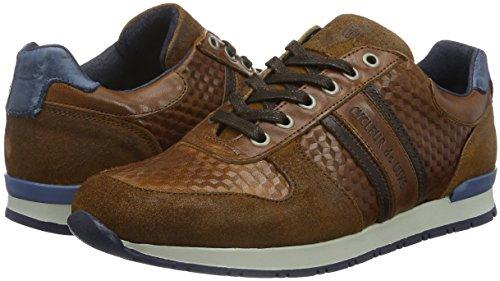 San Alte New Cognac Indigo coffee Sneaker De Remo Uomo Luxe Dark Cycleur Marrone qtwUY67