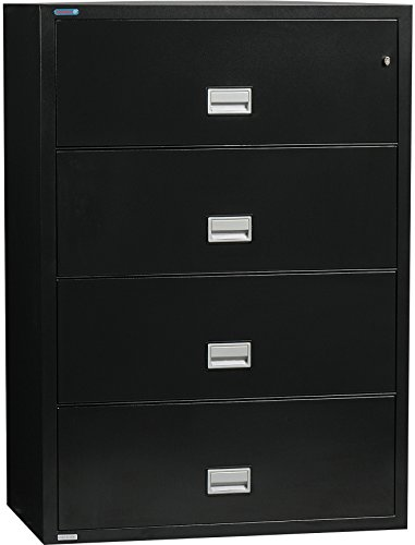 Phoenix Lateral 38 inch 4-Drawer Fireproof File Cabinet - (Insulated Fireproof Filing Cabinet)