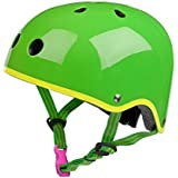 Micro Safety Helmet Glossy Green For Boys And Girls Cycling, Scooter, Bike