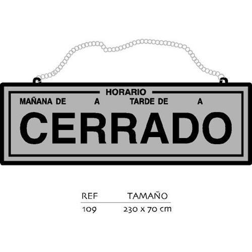 Rotulauto - Placa Abierto-Cerrado Con Horario Pl.: Amazon.es ...