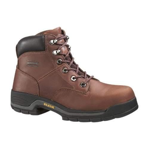 Wolverine Men's Harrison W04904 Work Boot,Brown Leather,9.5 M US