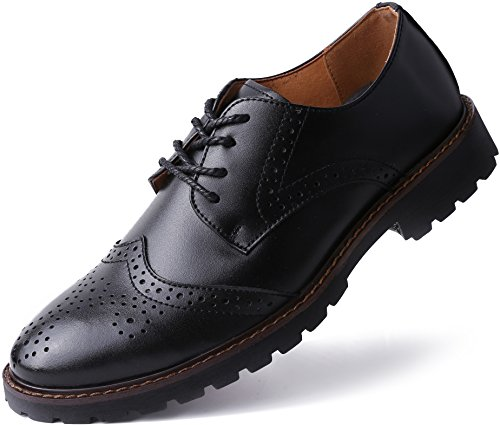 Marino Oxford Dress Shoes for Men - Formal Leather Shoes - Casual Classic Brogue Mens Shoes