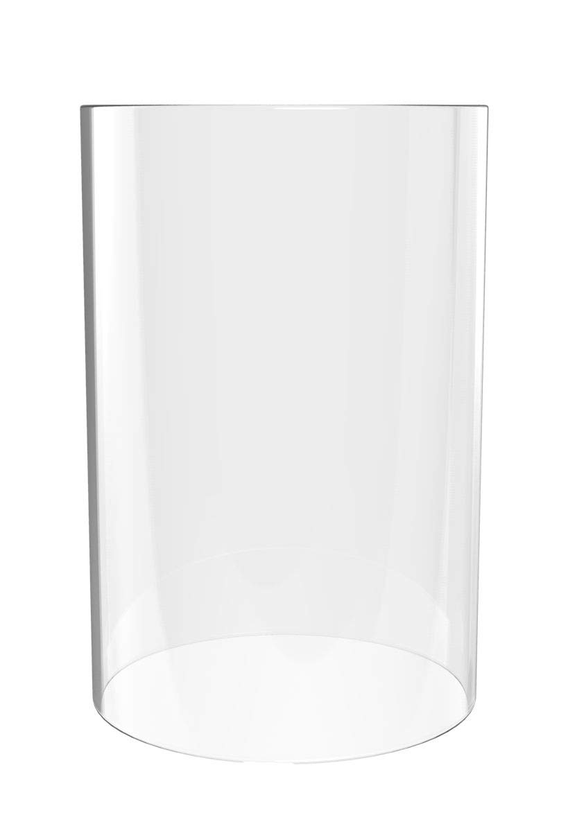 Amayon Clear Glass Cylinder Vase - Pillar Candle Holder Open End-Diameter is 4.7'', Height 14'' Multiple Specifications Globe
