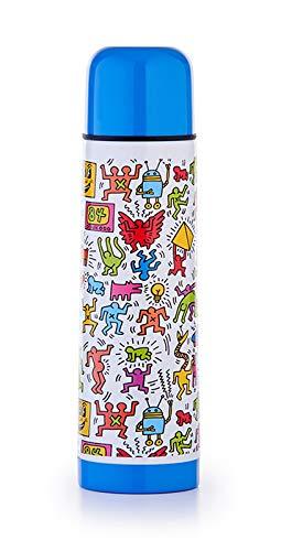Bianco con Motivi Keith Haring Giostyle Bottiglietta Termica