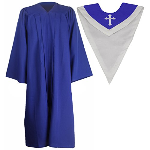 Ivyrobes Unisex Classic Matte Choir Robe&Stoles Package R...