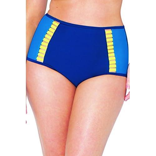 Kostenloser Versand Curvy Kate Damen Bikinihose Blau Gemischt cxJcQ7A7