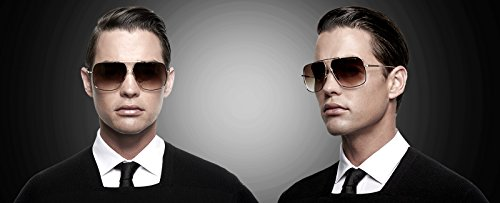 b2fd24ab6df ATTCL Men s HD Polarized Navigator Sunglasses for Men Driving Fishing Golf  T005 Gold-Brown