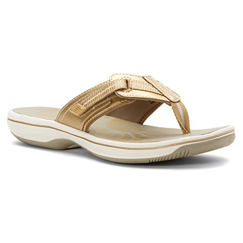 CLARKS Women's Brinkley Jazz Gold Sandal