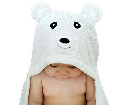 Bear Hooded Baby Towel For Toddler, Newborn and Infant | Super Soft Organic Bamboo | Animal Face Design For A Girl or Boy | Great For Bathtub, Pool or Beach by BabyTrove