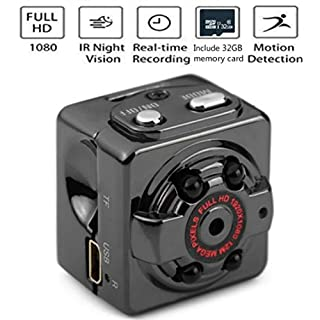 Silverzone Mini Spy Camera Wireless Hidden Camera HD 1080P Portable Small Nanny Cameras with 32GB Memory Card Night Vision Motion Detection Perfect Indoor Covert Security Camera for Home and Office