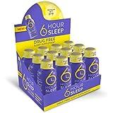 6 HOUR SLEEP , Made from Natural Ingredients, Liquid Sleep Aid, contains GABA, MELATONIN, 5-HTP Drug Free, No Grogginess - 12 Pack