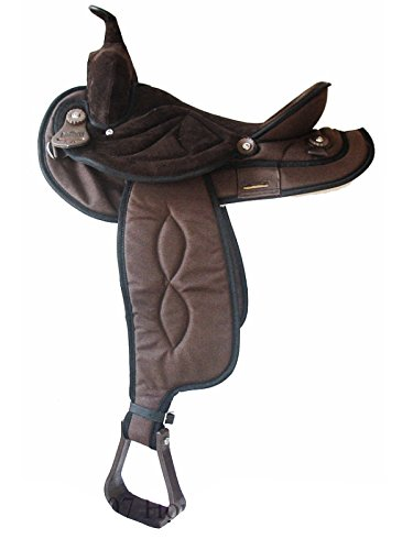 Big Horn Synthetic Suede Trail Saddle 17In Brown