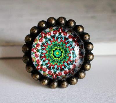 (Colorful-Drawer Knobs Bronze Crystal Dresser Drawer Knobs American Cabinet Handles Pull Knob Ornate/Furniture Hardware - (Color: E) )