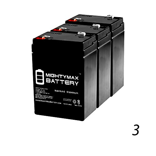 6V 4.5AH SLA Replacement Battery for Jiming JM-6M4.5AC - 3 Pack - Mighty Max Battery brand ()