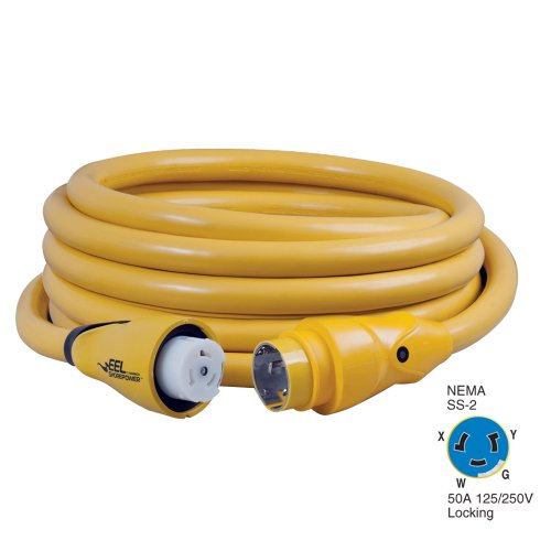 New 50a Eel Shorepower Cordsets marinco/guest/afi/nicro/bep Cs504-25 Rating 50A 125/250V Length 25' Yellow