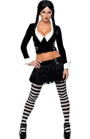 Addams Family Secret Wishes Wednesday Addams Costume, Black, XS (2/4)