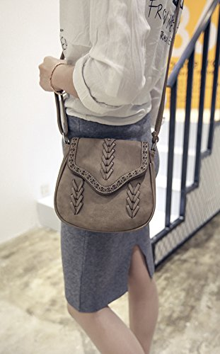 PU with Women's Bag Yellow Messenger Crossbody Shoulder Hobo Sanddle Lacing Bag Flap 4zawfdqz