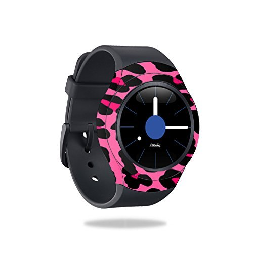 MightySkins Skin Compatible with Samsung Gear S2 Smart Watch Cover wrap Sticker Skins Pink Leopard by MightySkins