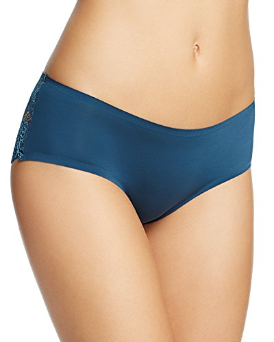Free People Women's Gabrielle Sheer Lace Hipster Briefs (Small, Deep Sea)