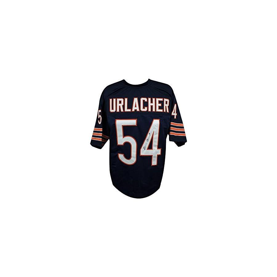 Brian Urlacher Autographed Chicago Bears Custom Navy Football Jersey JSA COA