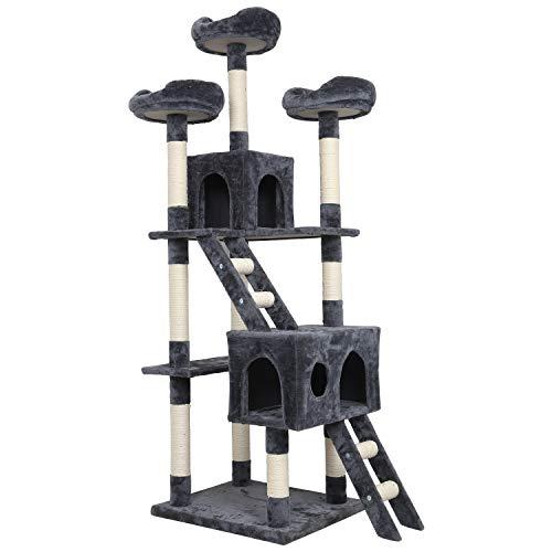 Meerveil Kratzbaum Groß, 186cm Stabiler Kratzbaum, Katzenbaum XXL XL, Großer Kletterbaum mit Kratzsisal, Säulen mit…