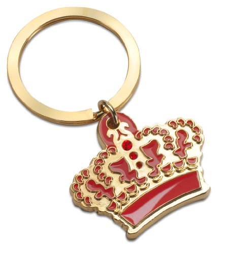 The Queen´s Blue Crown Enamelled Metal Key with Charms in Gift Box By Fine European Stuff