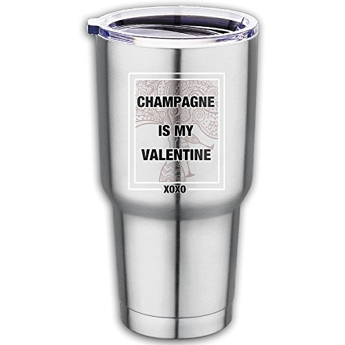 Champagne Is My Happy Valentine XOXO 900 Stainless Steel Car Cup Fashion