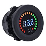 Cllena DC 12V Digital LED Voltmeter Panel Multicolor Indicator for Car Marine Boat Motorcycle Truck ATV UTV Camper Caravan