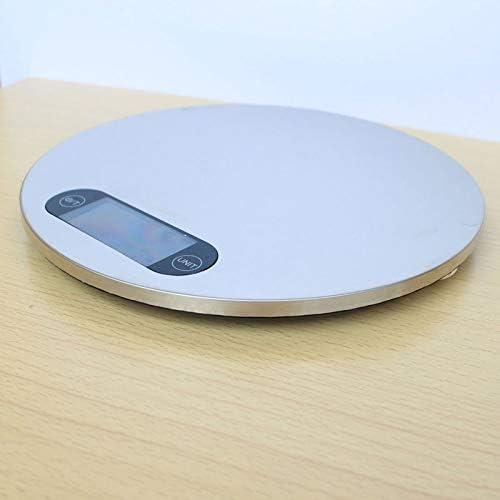 Bilancia da Cucina Digitale Bilancia da cucina digitale LCD a forma rotonda in acciaio inossidabile con display elettronico per bilance da cucina